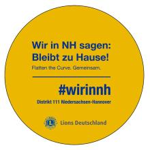 wir in nh Lions 111 nh flatten the curve. Gemeinsam.