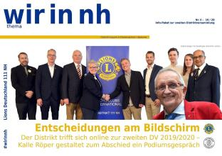 Lions: wir in nh thema Mai 2020