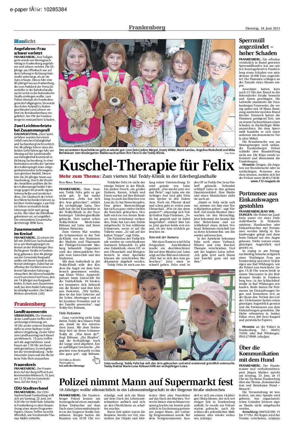 Frankenberg/Eder - Presse