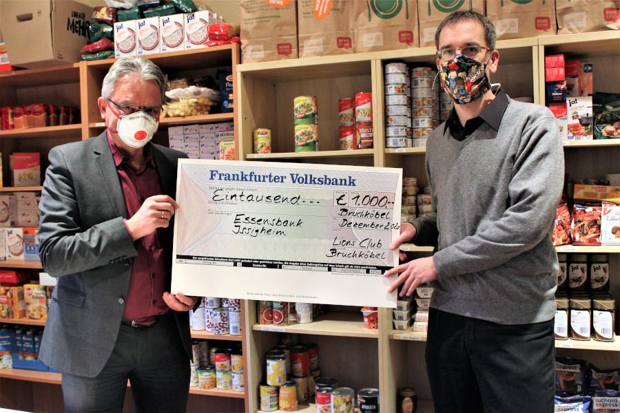 Spendenübergabe Essensbank