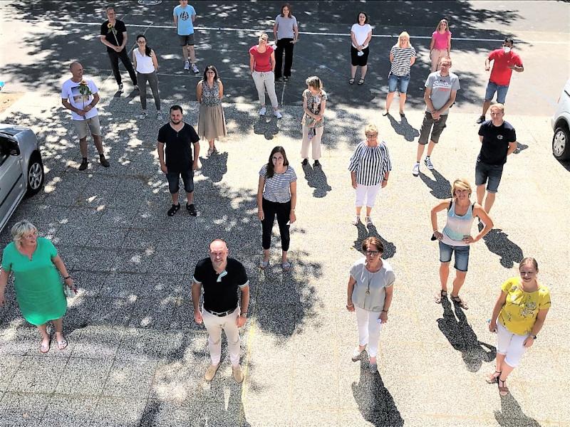Gruppenfoto von den Klassenlehrern Gesamtschule Verl