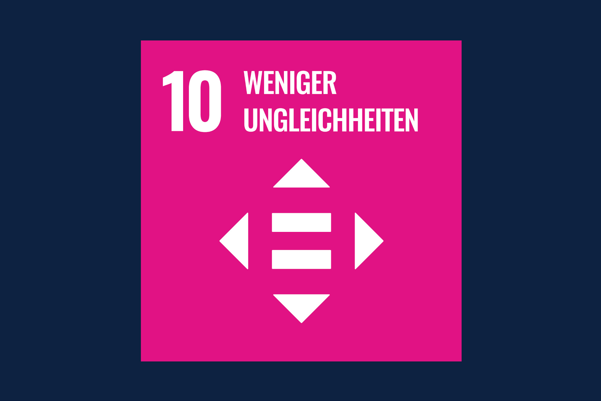 Icon für das Ziel 10 – Weniger Ungleichheiten