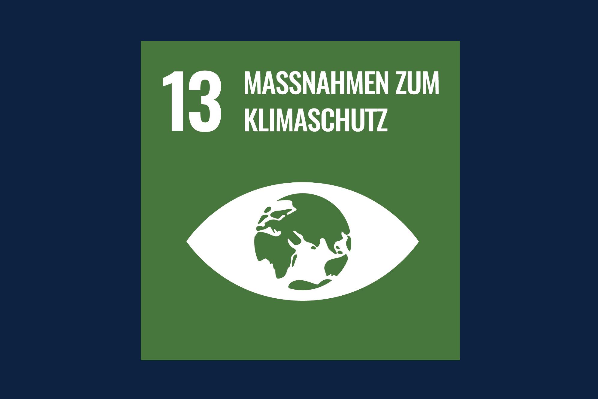 Icon für das Ziel 13 – Massnahmen zum Klimaschutz